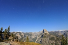 Half dome trails