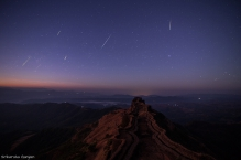 Meteor Showers On Rajgad