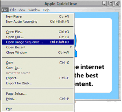 Importing Image Sequence In Quick Time Pro