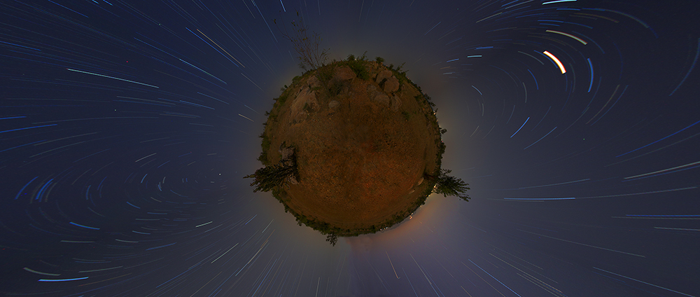 Stereographic star trails
