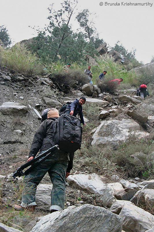 Trekking through the landslides